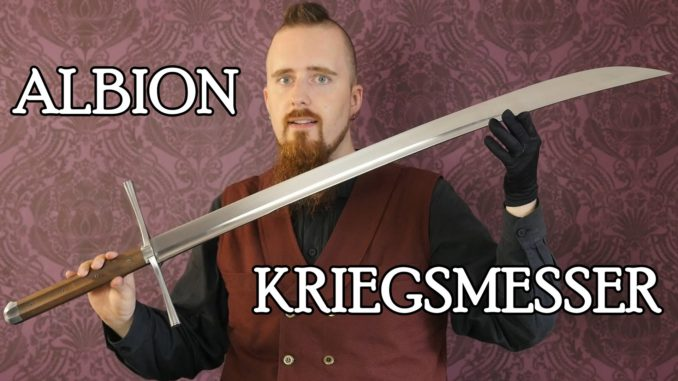 Albion Kriegsmesser Sword Video Review